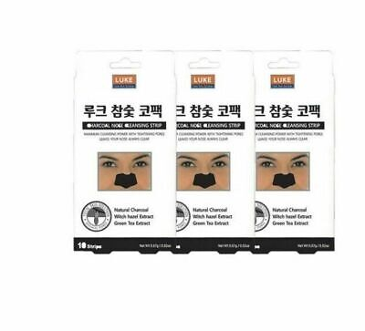 3PCS LUKE Charcoal Nose Cleansing Strips Packs Skin Care Patch Type_UI