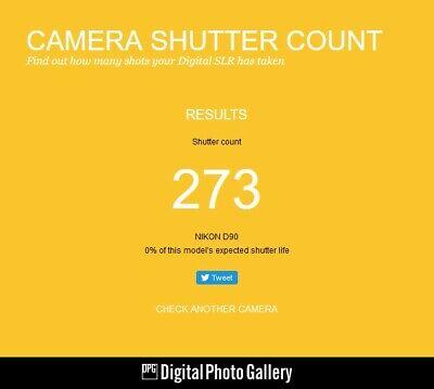 NIKON D90 12.3MP DSLR CAMERA BLACK (BODY ONLY) / SHUTTER COUNT: 273...