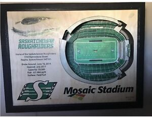New Mosaic Stadium wall art