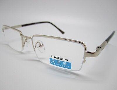 +1 Reading Glasses Ar Semi Rimless Gold Brown 52-18 Computer Reader Semi-rimless