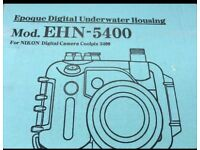 Nikon Coolpix 5400, underwater Camera Housing & Wide Conversion Lens