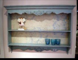 Large Shabby Chic wall shelf unit