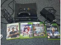 250gb xbox 360 with games and controller