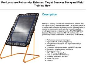 Pro Lacrosse Backyard Target Bouncer Windsor Region Ontario image 2