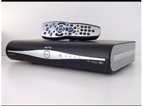 Sky + HD 250GB set top box with with remote control & viewing card