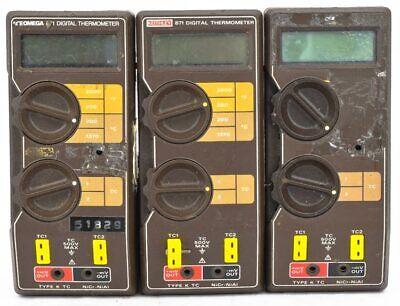 Mixed Lot Of 3 Keithleyomega 871 Tc 500 Max Handheld Digital Thermometer Parts