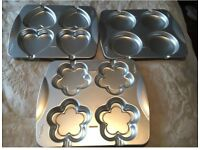 Wilton Heart, Circle, Flower Shaped Tin for Cookie Lollipops X 3