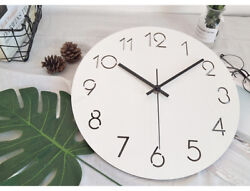 D191 Modern Style Simple White Mute Living Room Decoration Wall Clock 15 Inch A