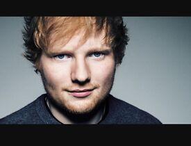 2 x Ed Sheeran standing tickets Newcastle 19th April