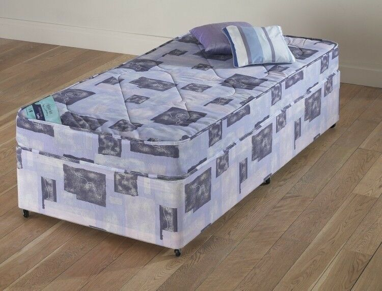 Single Divan Bed Base & Mattress - as new