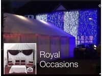 !! Royal Occasions Wedding Services!! Hire Marquees,Folding Chairs & Tables,Stages and much more!!