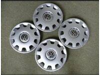 Original 4 x unused VW hubcaps from the Mark 4 Golf we bought in 2000.