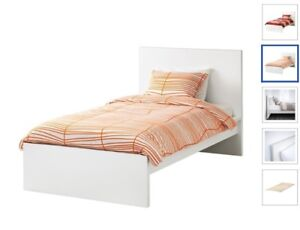 IKEA white twin bed frame 10/10 condition