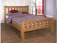 Good Quality FREE PINE WOODEN BED WITH COMFY BED