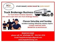 FREIGHT BROKERAGE BUSINESS COURSE STARTING SOON IN BRAMPTON