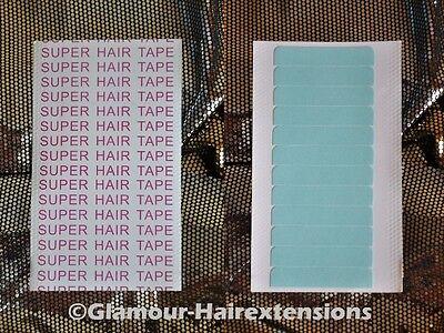 12x SUPER Hair Tape für Haarverlängerung Extensions Skin weft Ersatz Klebetape