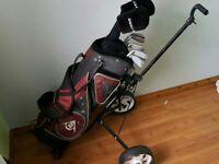 Full golf set including caddy