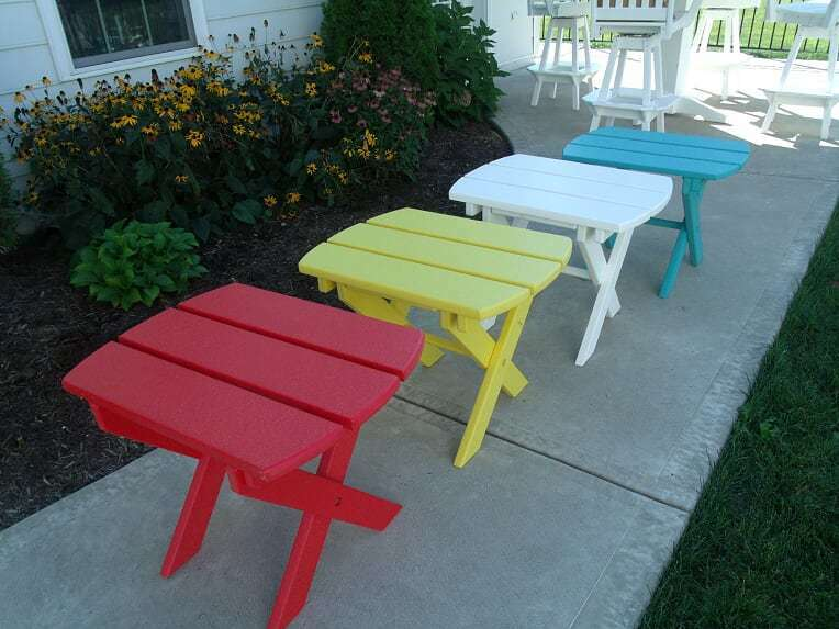 Poly Outdoor Folding Side/End Table - 18 Colors - Amish Made