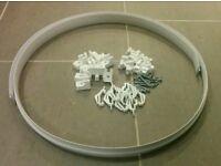 PVC curtain track & fixings 1800mm
