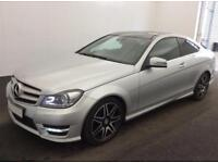 £248.51 PER MONTH 2013 Mercedes Benz C220 CDI B/E AMG SPORT PLUS AUTO COUPE