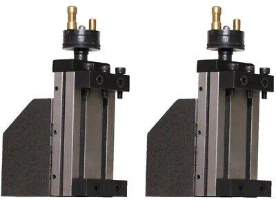 Mini Vertical Slide Lathe Milling Tool Post 2 Pcs Size 95 X 50 Mm Lathe Machine
