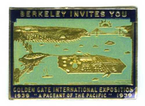 1939 GGIE BERKELEY INVITES YOU SAN FRANCISCO GOLDEN GATE EXPO~WORLD