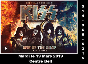 Kiss, 19/03/2019, Centre Bell, Parterre rangé X