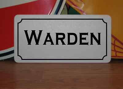 Prison Warden Costume (WARDEN Metal Sign 4 Costume Cosplay Girls Clubware S&M Prop)