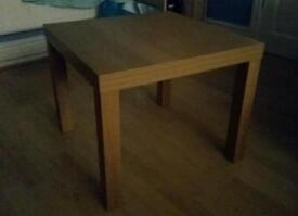 2 x ikea light wood side tables