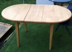 Solid extendabe dining table delivery available