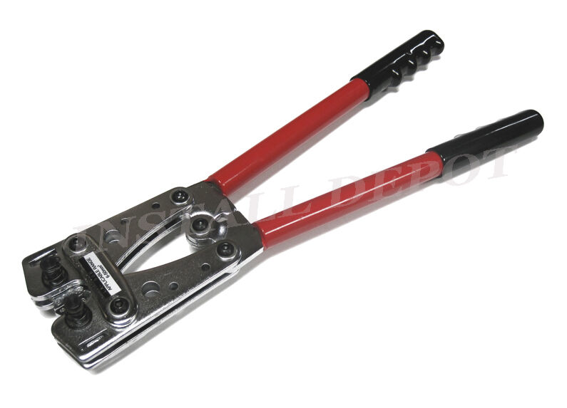 HEAVY DUTY CRIMPER 1/0 2 4 8 10 GAUGE HEX CRIMPING WIRE LUGS TERMINALS LARGE NEW