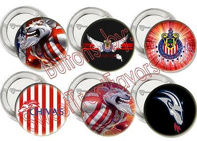 Chivas Guadalajara Usa Party 12 Pins Buttons Favors Soccer Birthday Fiesta Treat