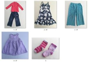 Lot 3T fille 7 mcx - 7 clothing items baby girl 3 years old