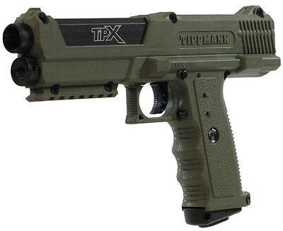New Tippmann TIPX Pistol Tactical Woodsball Mil Sim Paintball Gun Marker - Olive