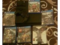 PS4 + 6 GAMES + ONE CONTROLLER L@@K NOW open to offers