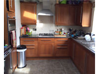 Cherry wood kitchen (18 units) including Neff and Bosch appliances