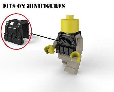 Black Vest V3 Tactical Army Vest Compatible with toy brick minifigure SWAT W39