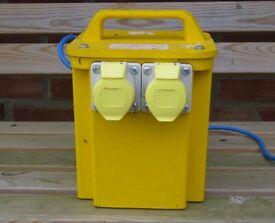 110v yellow site transformer