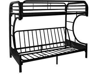 LORD SELKIRK FURNITURE C METAL FUTON BLACK BUNK BED FRAME - $269.00