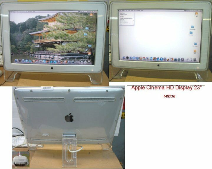Apple cinema display 23 monitor m8536 with dvi to adc adapter apple cinema display 23 monitor m8536 with dvi to adc adapter sciox Images