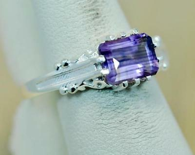 NATURAL AMETHYST FEBRUARY BIRTHSTONE 925 STERLING SILVER LADIES  RING #BE1