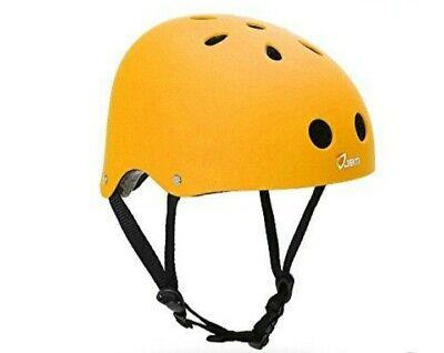 NEW - Yellow JBM Skateboard Helmet Size M CPSC Certified Impact Ventilation BMX