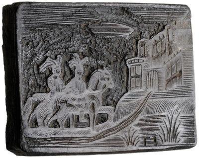 RARE Original Woodblock Printing Plate Hand-Engraved & Signed by Isaiah Thomas