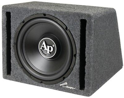 New 12  Powered Car Audio Bass Subwoofer Speaker Ported Enclosure Box Active