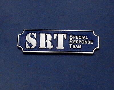 SRT Special Response Team Dark Blue/Silver Award Bar Uniform Pin(police/sheriff)