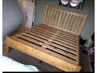 Solid oak king size bed frame in very good condition