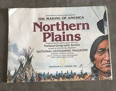 1986 National Geographic Map -- Northern Plains - Making Of America Series