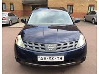 LHD LEFT HAND DRIVE NISSAN MURANO 3.5 V6 PETROL 2006 BLUE FULLY LOADED CREME LOW MILEAGE IMMACULTE