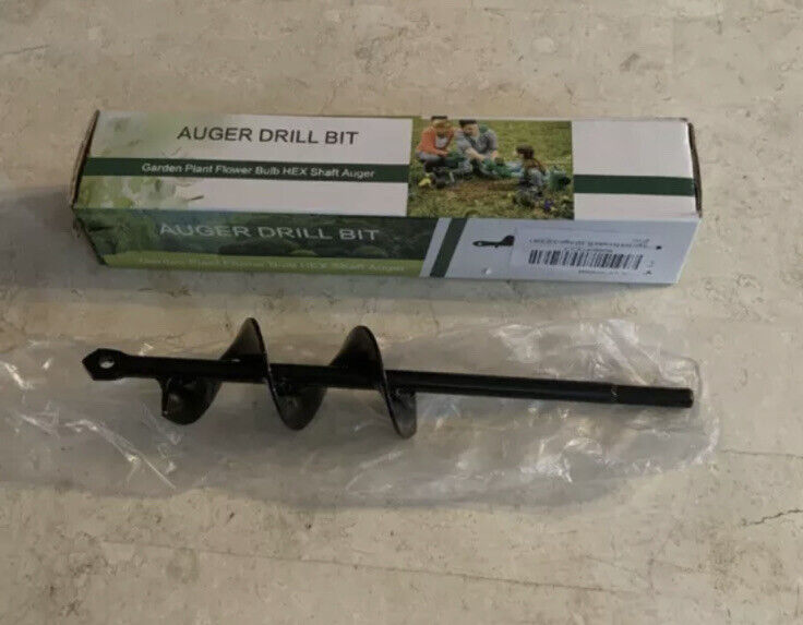 Garden Plant Flower Bulb Hex Auger Drill Bit Fits Any Drill NEW