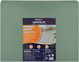 Wood & Laminate Underlay x15 Boards 5mm, Vitrex Prmier Brand, NEW